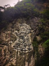 Buddhist Carved stone relief at Taibai Mountain National Park 1