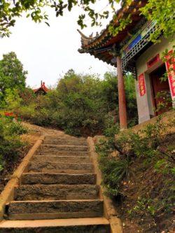 Colorful Flag Staircase Old Town Baoji at Taibai Mountain 2