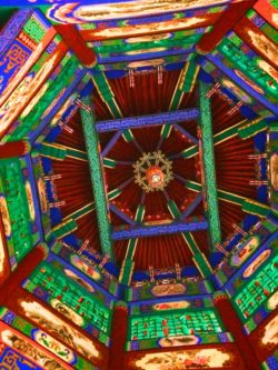 Decorative Ceiling in Buddhist Temple at Taibai Mountain National Park 3