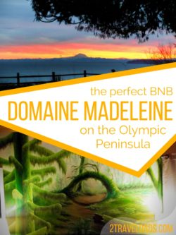 Domaine Madeleine is the perfect Olympic Peninsula BNB. Spacious, beautiful views, great service. 2traveldads.com