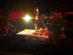 Durien salesman in Muslim Quarter Xian at Night 2