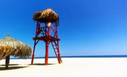 Palapa and Blue Sky at East Cape Beach San Jose del Cabo 2