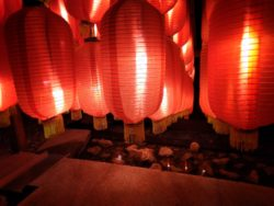 Red Chinese Lanterns at Taibai Mountain Hot Springs Resort 3