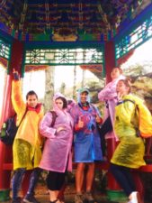 Rob Taylor and Friends at Buddhist temple at Taibai Mountain National Park 1