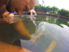 Rob Taylor in fish bath at Taibai Mountain Hot Springs Resort Baoji 1