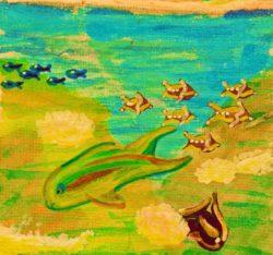 Watercolor painting of sealife at Cabo Pulmo National Park 1