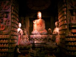 Relocated Buddhist temple in Xian Cultural History Museum