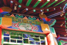 Colorful Chinese Gazebo at Baota Pagoda Yanan Shaanxi 1