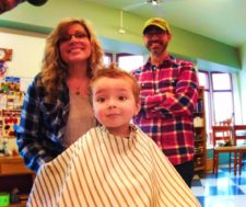 LittleMan getting a haircut at Barbershop Port Townsend 1