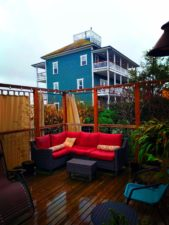 Outdoor deck at Soak on the Sound Port Townsend 1
