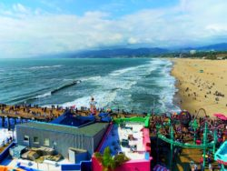 Santa Monica Beach from top of Santa Monica Pier Ferris Wheel 2