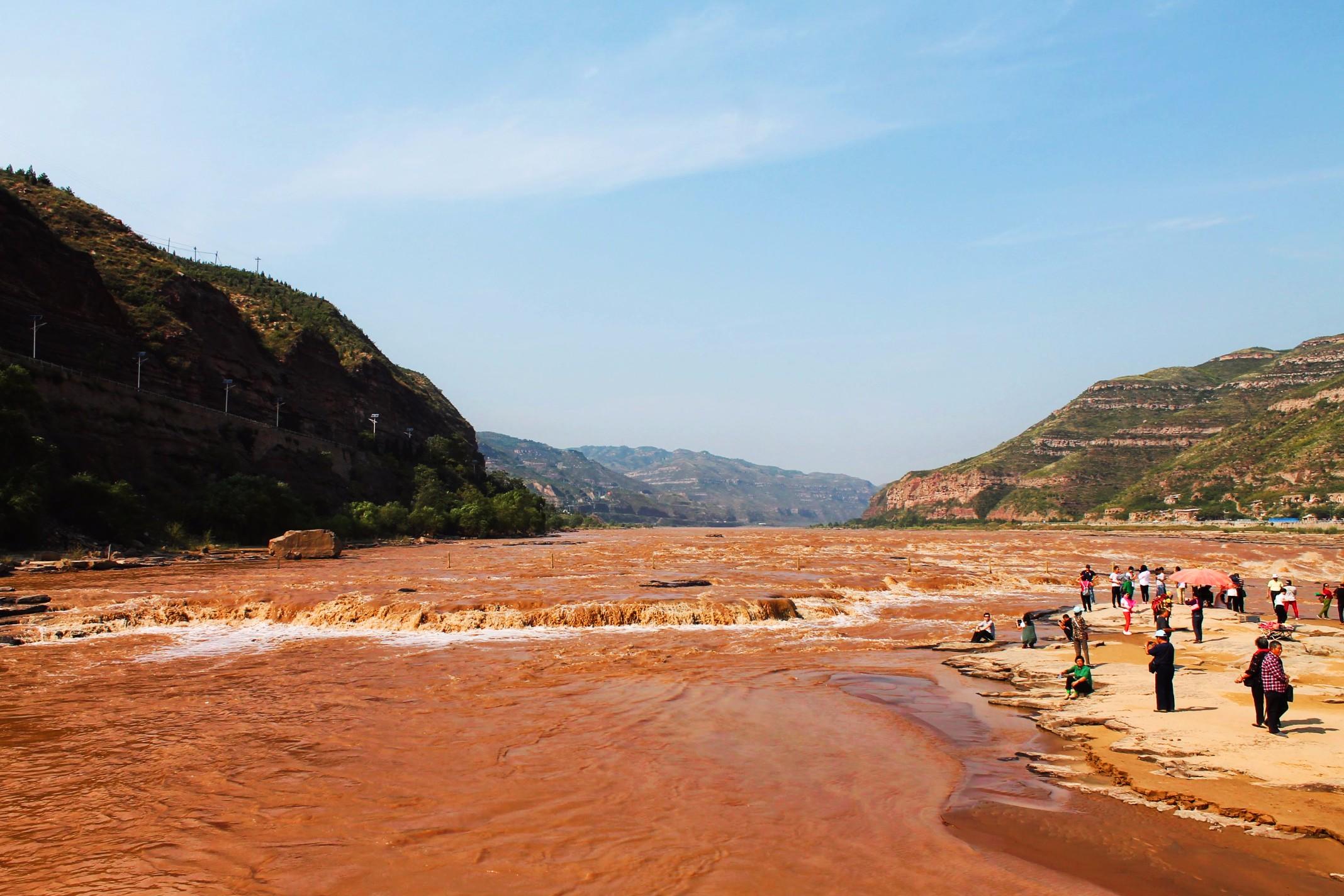 Yellow River at Hukou Falls National Park Shaanxi 1 - 2 ...