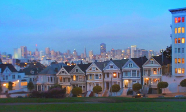 Alamo Square at Sunset San Francisco 1