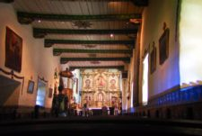 Inside Church at Mission San Juan Capistrano 1