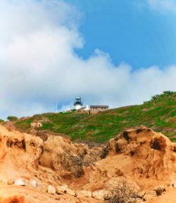 Old Point Loma Lighthouse from Beach Cabrillo National Monument 2