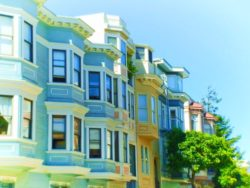 Row Houses on Telegraph Hill San Francisco 1