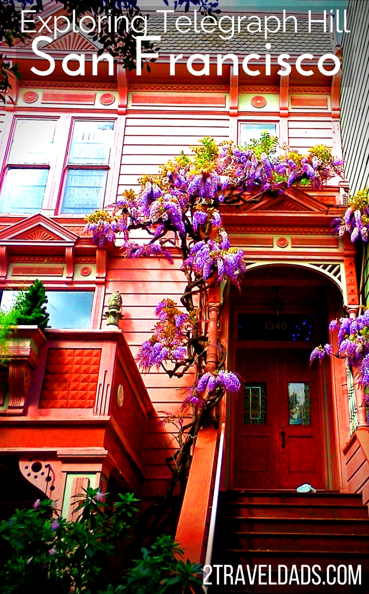 San Francisco, California has many fascinating neighborhoods but none are as beautiful as Telegraph Hill with its garden steps, Art Deco architecture and wild parrots. 2traveldads.com