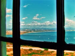 View from inside Old Point Loma Lighthouse Cabrillo National Monument San Diego 1