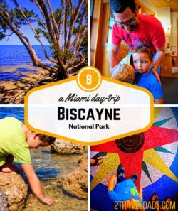 Biscayne National Park is a perfect Miami day trip to add to a weekend getaway, cruise ship port, or Florida road trip. 2traveldads.com