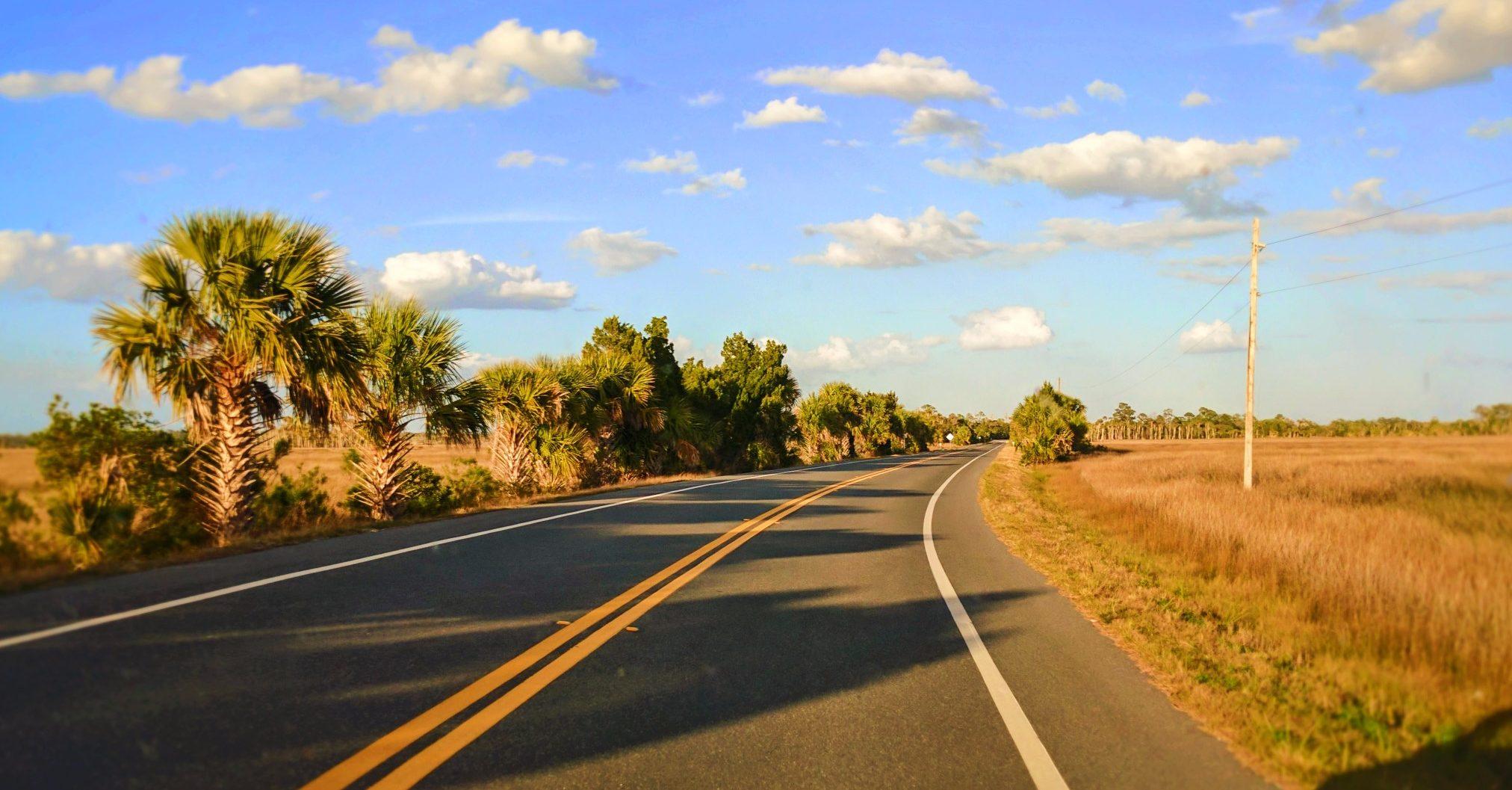Driving through Crystal River National Wildlife Refuge Citrus County Florida 1