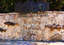 Entrance sign at Biscayne National Park 1