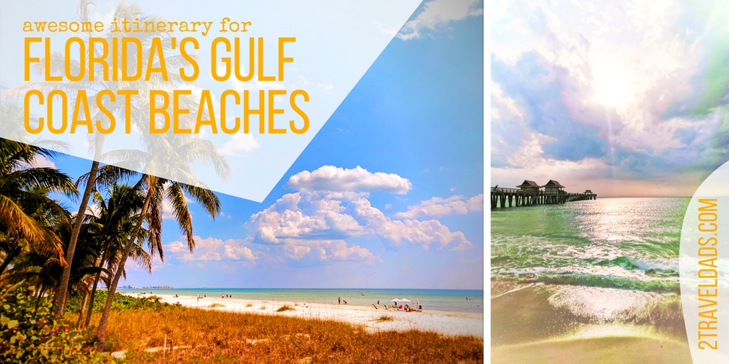 The Florida Gulf Coast beaches are incredible, from sugar sand to nothing but shells, wildlife to gentle waves. So much fun for family travel! 2traveldads.com