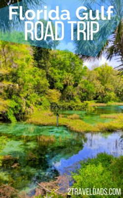 A Florida road trip is full of adventure from its beaches and tropical waters to its springs and divable rivers. Wildlife around every turn and beautiful Florida sights everywhere you go. 2traveldads.com
