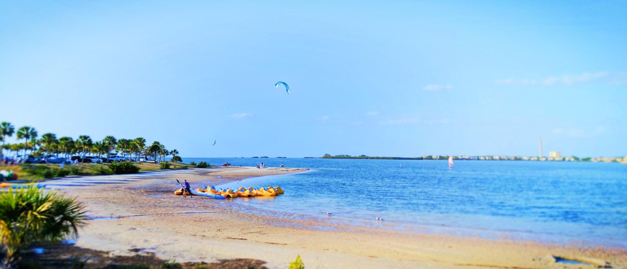 Kayak Rentals at Beach in Tarpon Springs Florida 1