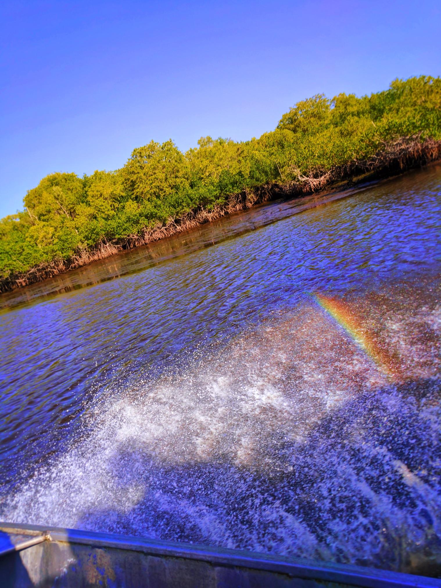 Rainbow Mist on Airboat Ride Everglades City Florida 1