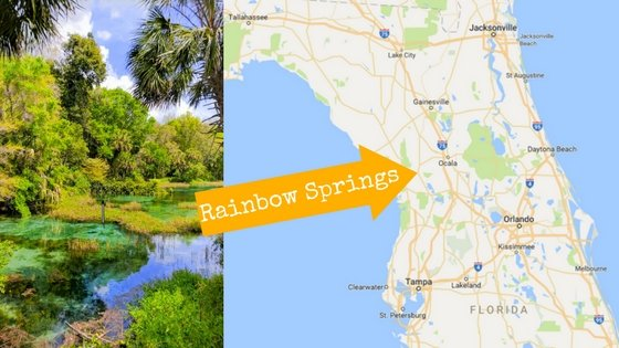 Rainbow Springs Florida Map Rainbow Springs map with 2TravelDads image   2 Travel Dads