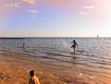 Taylor Family Splashing at Fort Island Beach Citrus County Florida 2
