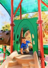 Taylor Family at Playground at Fort De Soto Park Campground Pinellas County Florida 1