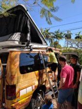 Taylor Family in Escape Campervan Miami Beach 5
