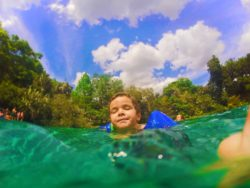Taylor Family in Rainbow River at Rainbow Springs State Park 5