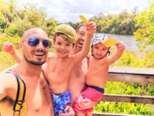 Taylor Family on Trail System at Rainbow Springs State Park 3