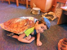 Taylor Family with turtle shell at Biscayne National Park 1