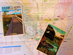 Vintage Everglades National Park postcard and map 3