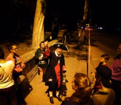 Costumed tour guide on St Augustine Ghost Tour 5