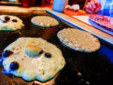 Making pancakes at Old Sugarmill Restaurant De Leon Springs State Park Daytona Beach 1