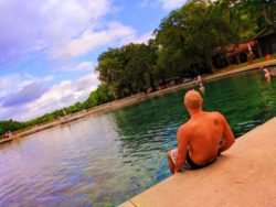 Rob Taylor swimming at Headsprings at De Leon Springs State Park Daytona Beach 1