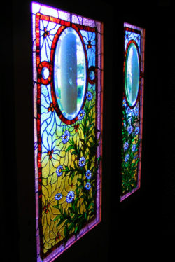 Stained Glass windows of Winchester Mystery House San Jose 1