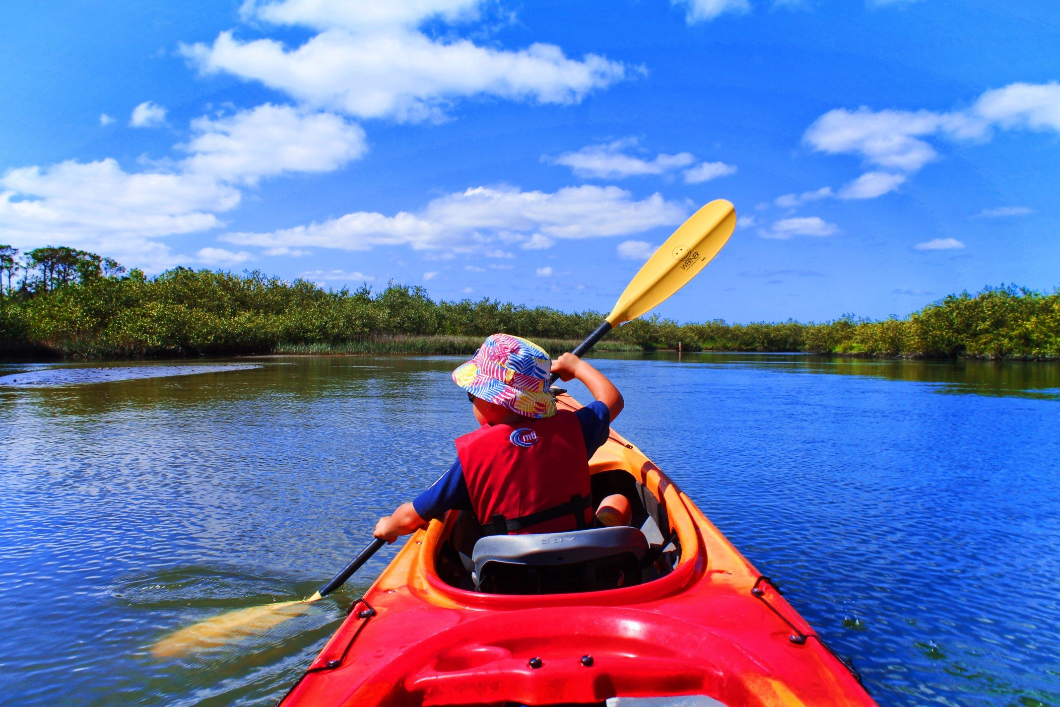 Taylor Family Matanzas River kayaking Ripple Effect Ecotours St Augustine 4