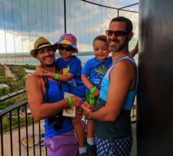 Taylor Family at top of Ponce Inlet Lighthouse Daytona Beach 1