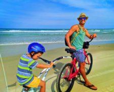 Taylor Family biking on Daytona Beach 1