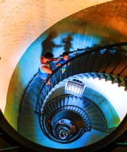 Taylor Family climbing Ponce Inlet Lighthouse Daytona Beach 2