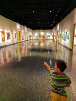 Taylor Family in Art Museum at Daytona Beach MOAS 2