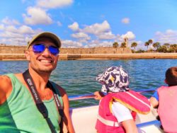 Taylor Family with Castillo de San Marcos from Matanzas River during St Augustine Ecotours 1