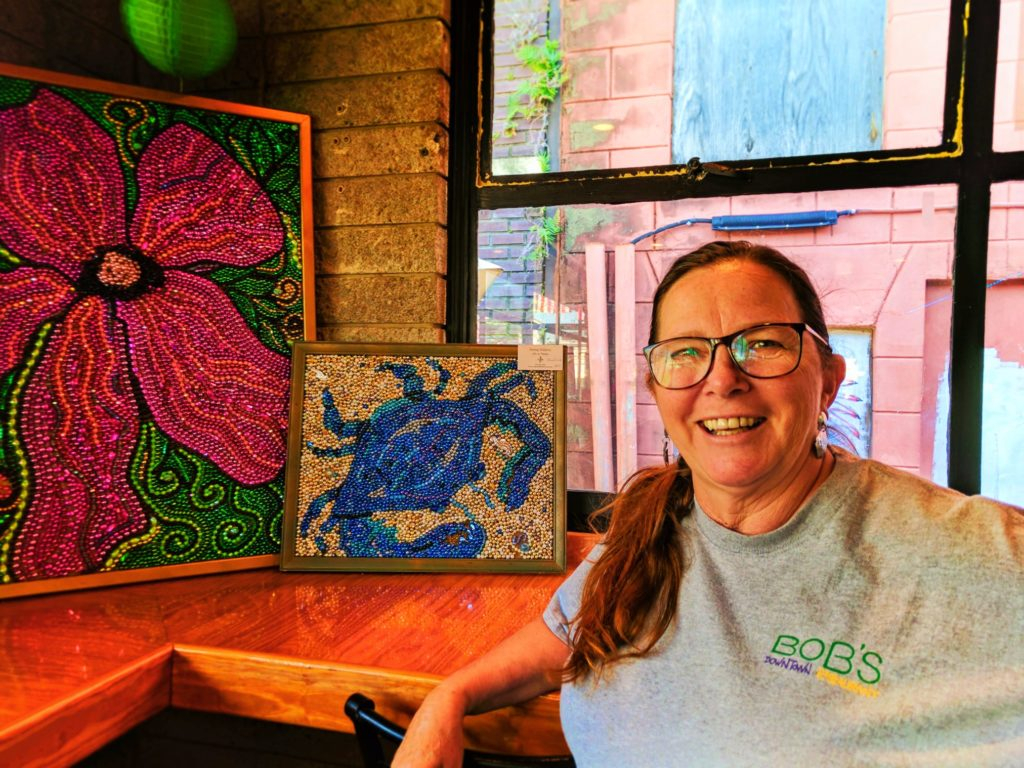 Mardi Gras bead art by Spring Waldron Mobile Alabama 3