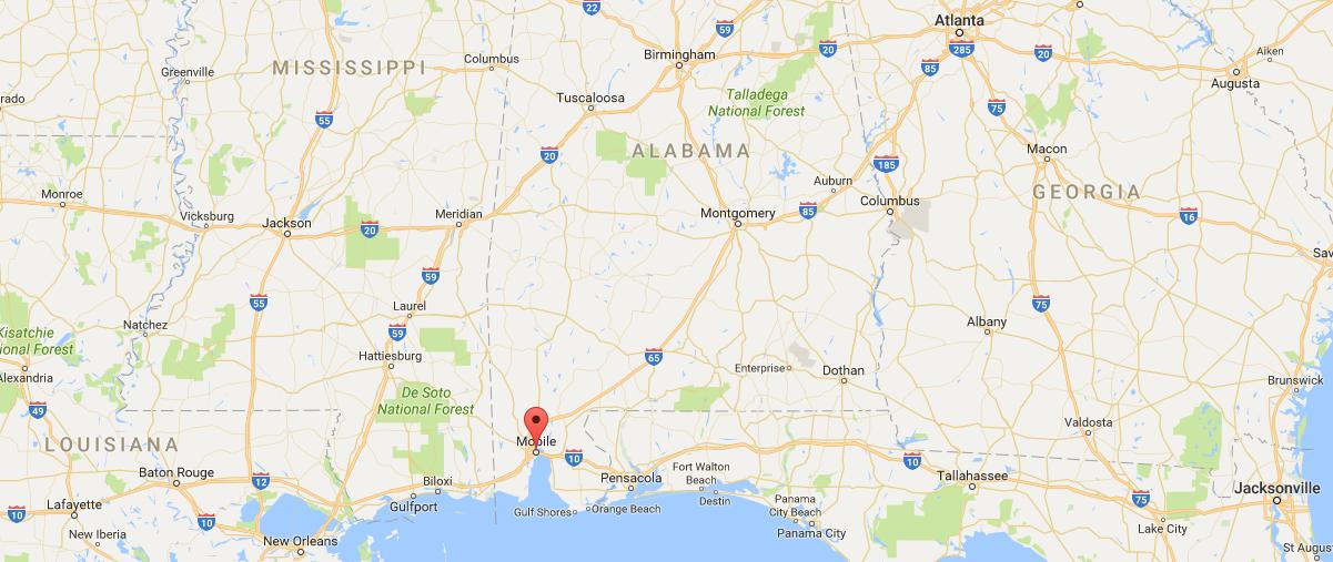 Mobile Alabama Southeastern USA