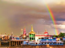 Rainbow over Paradise Pier Disneys California Adventure 1